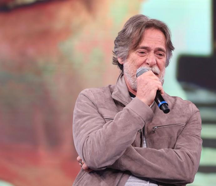 José de Abreu se emociona no 'Arquivo Confidencial' (Foto: Carol Caminha/Gshow)