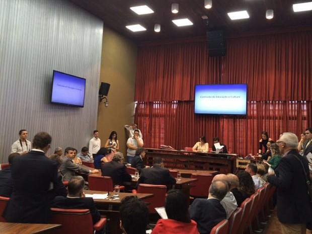 Comissão de Educação e Cultura da Assembleia Legislativa de São Paulo (Foto: Lívia Machado/G1)