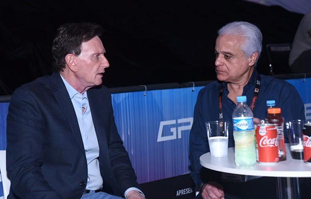Prefeito do Rio - Marcelo Crivella e Roberto Medina (Foto: Renato Wrobel/ Ed. Globo)