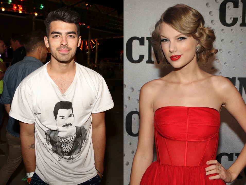 """Joe Jonas pode ter terminado com Taylor Swift em uma conversa de telefone de 27 segundos em 2008, mas felizmente, os dois superaram isso. Jonas disse a MTV em 2012: """"Acho que nós estamos bem... Não tenho falado com Taylor recentemente, mas fui ao show dela no ano passado e estava fenomenal"""". Ufa! Quantos homens, hein, Taylor? (Foto: Getty Images)"""