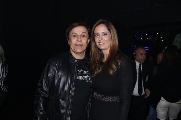Tom Cavalcante e a mulher, Patrícia Lamounier (Foto: Thiago Duran e Eduardo Martins/AgNews)