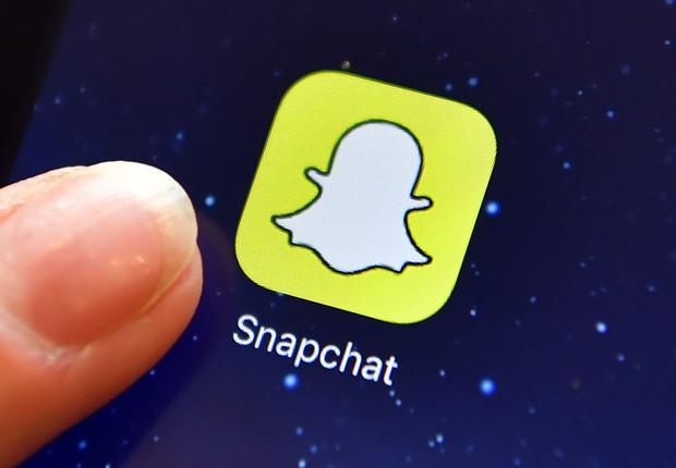 Aplicativo Snapchat é visto em celular (Foto: Carl Court/Getty Images)