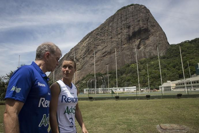 Bernardinho aposta na americana Courtney Thompson para substituir Fofão  (Foto: Márcio Rodrigues)