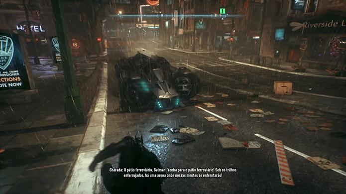 Batman Arkham Knight: saiba como usar o Batmóvel (Foto: Reprodução/Murilo Molina)