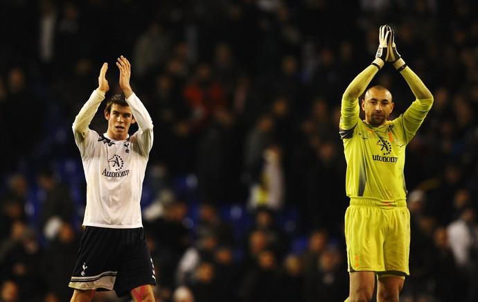 Bale e Heurelho Gomes (Foto: Getty Images)