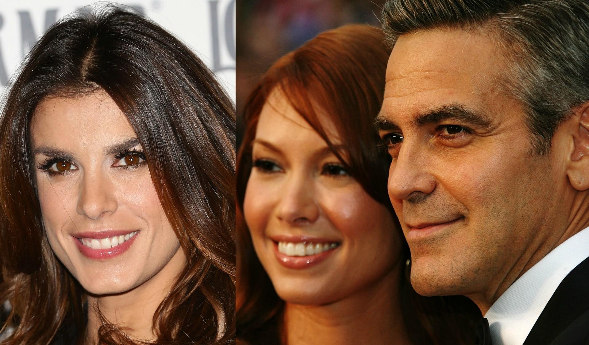 Quando o namoro com a garçonete e bartender Sarah Larson (à dir.) cheogu ao fim, em 2008, George Clooney foi ficar com a atriz e apresentadora italiana Elisabetta Canalis (com quem rompeu em 2011).  (Foto: Getty Images)