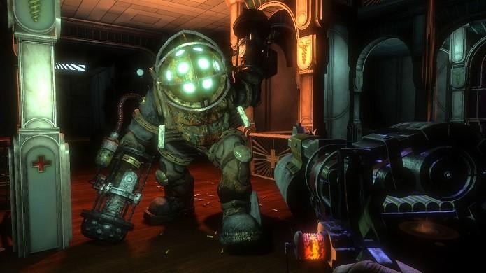 Em BioShock o jogador conhece uma Rapture com toda doutrina objetivista de Any Rant (Foto: Divulgação)