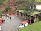 Bombeiros encontram um corpo em área de deslizamento em Ouro Preto
