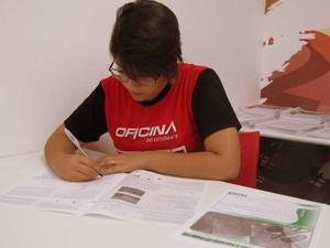 A estudante Rokaya Kanso, de Campinas, que presta a segunda fase da Unicamp (Foto: Daniel Abdala/Divulgação Oficina do Estudante)