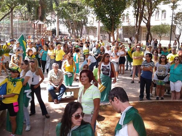 Manifestação Juiz de Fora (Foto: Fellype Alberto/G1)