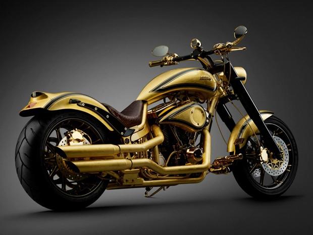 Lauge Jensen construiu moto exclusiva com ouro e diamantes (Foto: Divulgação)
