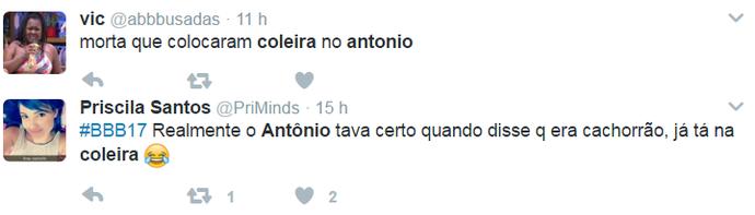Internautas adoraram frase de Antônio (Foto: Reprodução Internet)