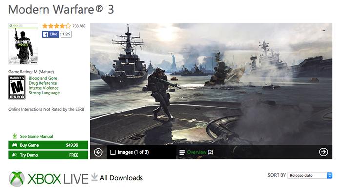 Selecione Call of Duty: Modern Warfare 3 para comprar (Foto: Reprodução/Murilo Molina)