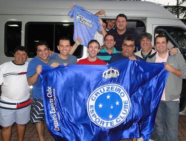 Torcida Cruzeiro hotel rio de janeiro (Foto: Marco Antônio Astoni)