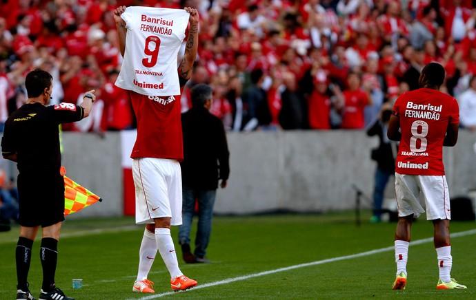 Rafael Moura Internacional gol Flamengo Estádio Beira-Rio (Foto: Itamar Aguiar / Agência Estado)