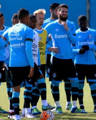 Treino Grêmio Marcelo Hermes Marcelo Oliveira Grêmio (Foto: Eduardo Deconto/GloboEsporte.com)