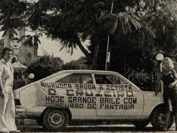Foto de quando a Revista Cruzeiro cobriu o Carnaval de Aiuruoca (Foto: Revista O Cruzeiro/Arquivo Câmara Municipal de Aiuruoca)