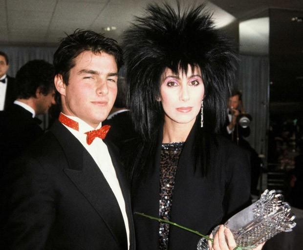 Cher e Tom Cruise (Foto: Reprodução)