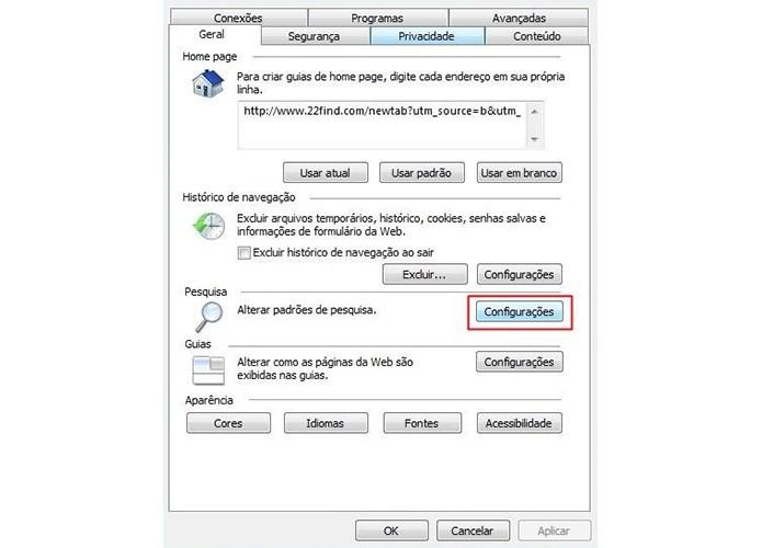 Abra as configurações de pesquisa (Foto: Reprodução/Paulo Alves)