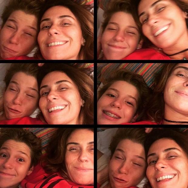 Giovanna Antonelli e o filho mais velho, Pietro (Foto: Reprodução/Instagram)