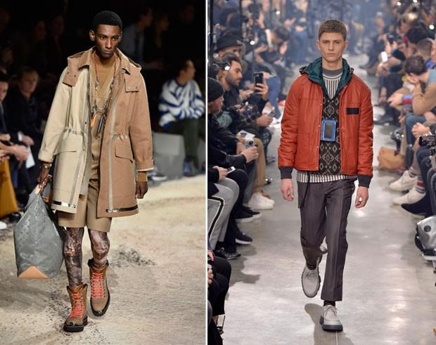 Louis Vuitton (E) e Lanvin (E) (Foto: Getty Images)