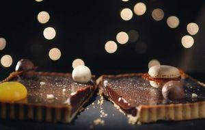 Receita de torta de ganache de mel e chocolate