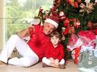 'Pai malucão': Otávio Mesquita antecipa o Natal com o caçula, Pietro