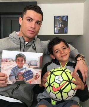 Cristiano Ronaldo Ayman (Foto: Reprodução/Twitter)