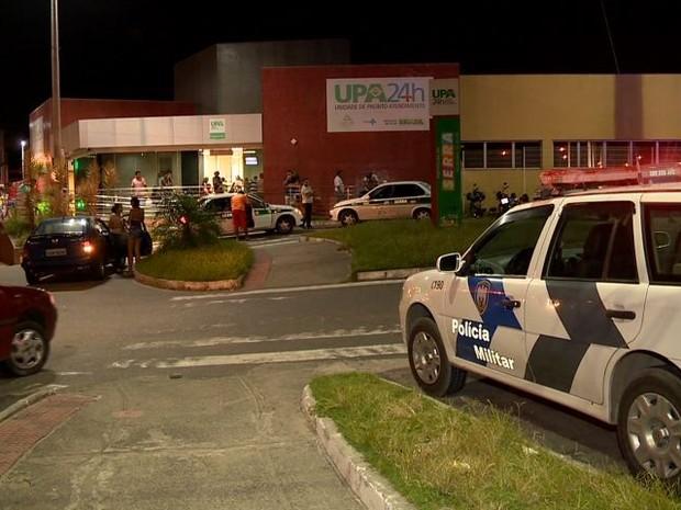 Polícia foi acionada para ir até o local, na Serra (Foto: Reprodução/ TV Gazeta)