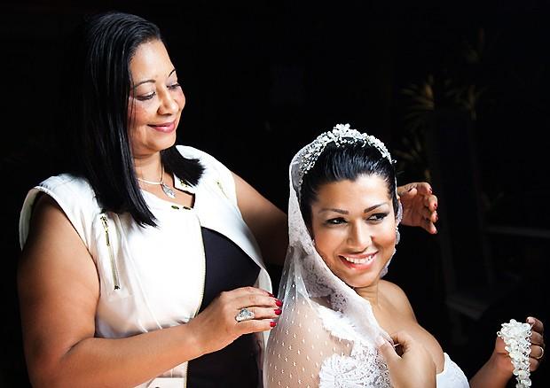 Moranguinho com a mãe (Foto: Marcelo Correa)