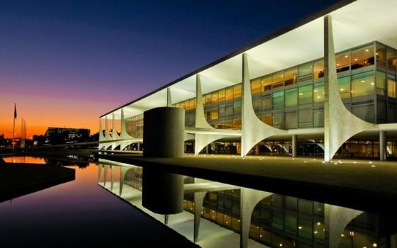O Palácio do Planalto, em Brasília, onde trabalha o presidente da República. O que acontece quando um candidato à Presidência morre antes das eleições? (Foto: Divulgação / Palácio do Planalto)