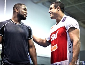 Vitor Belfort e Rashad Evans na Blackzilians (Foto: Divulgação / Arquivo Pessoal)