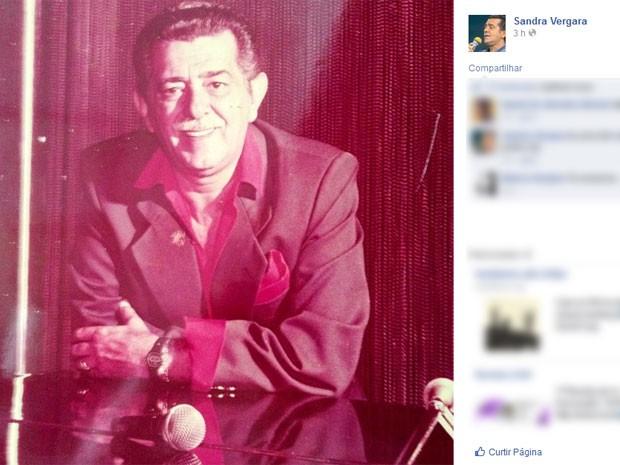 Filha postou homenagem a Miltinho na internet (Foto: Reprodução / Facebook)