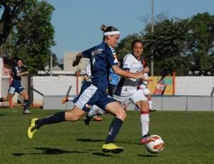 São José Feminino na estreia da Libertadores contra Cerro Porteño (Foto: Néstor E. Soto/ Conmebol)