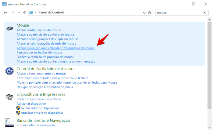 Clique sobre a opção indicada, nos resultados da busca (Foto: Reprodução/Helito Bijora)