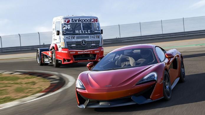 Forza Motorsport 6 ganha Select Car Pack com um caminhão Mercedes-Benz #24 Tankpool24 Racing Truck (Foto: Divulgação/Microsoft)