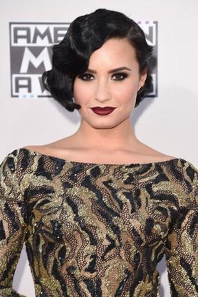 Demi Lovato em prêmio de música em Los Angeles, nos Estados Unidos (Foto: Jason Merritt/ Getty Images/ AFP)