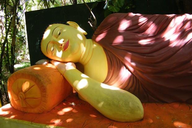 Imagem do Buda é encontrada de diversas formas, em todos os lugares (Foto: Sebastião Rinaldi)