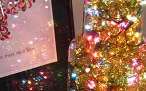 Como fazer uma luminária natalina