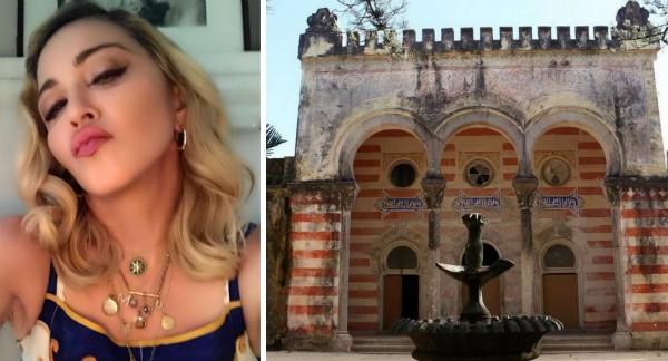 A cantora Madonna e o palacete do século 18 que ela comprou em Portugal (Foto: Instagram)