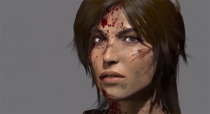 Lara faz caras e bocas no novo vídeo de Tomb Raider (Foto: Divulgação)