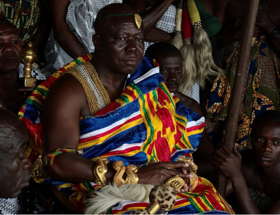 O rei dos axanti de Gana, Otumfuo Ose Tutu II (Foto: Alfred Weidinger/Flickr)