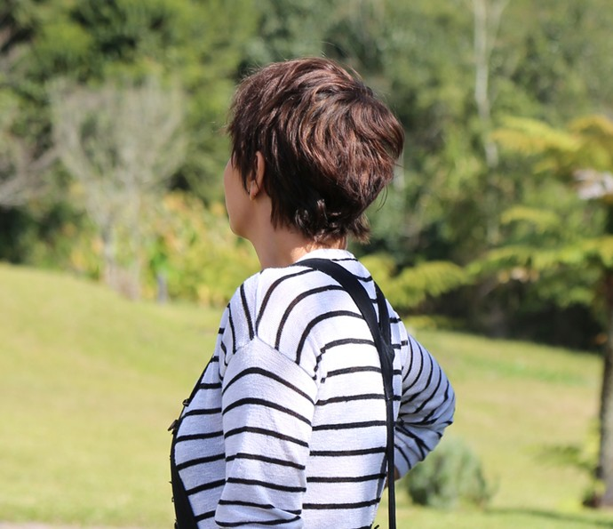 Detalhe do corte de cabelo da Fabiula Nascimento (Foto: Thiago Fontolan/Gshow)