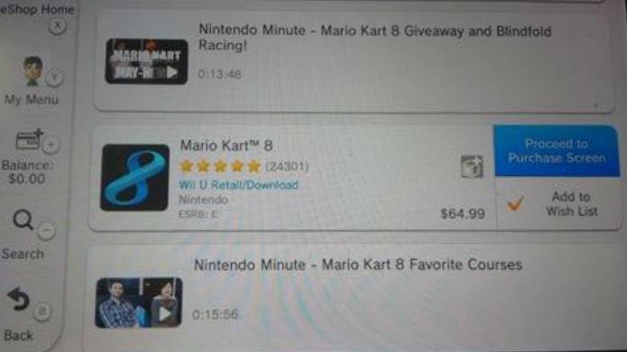 Clique no ícone para acessar os DLC de Mario Kart 8 (Foto: Reprodução/Thomas Schulze)