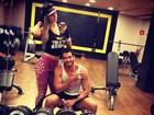 Ex-BBBs Tatiele Polyana e Roni malham juntos em São Paulo