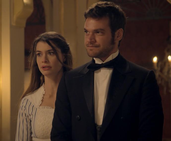 Após ameaça, Pedro decide falar com a Condessa sobre Lívia (Foto: TV Globo)