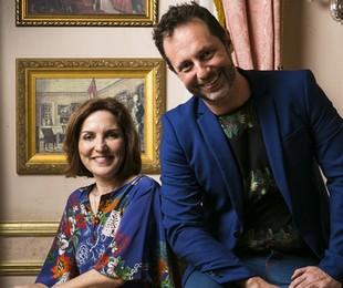 Thereza Falcão e Alessandro Marson, autores da Globo | TV Globo / Raquel Cunha)