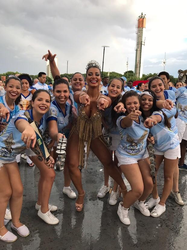 Cinthia Santos em ensaio técnico do Anhembi (Foto: Samuel Luiz/Renata Masf/R2 Assessoria)