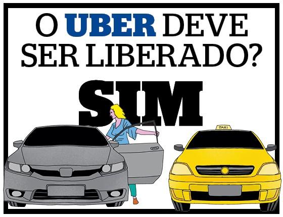 Debate sobre a liberação do aplicativo UBER - Sim  (Foto: Ilustração: Espaço Ilusório)