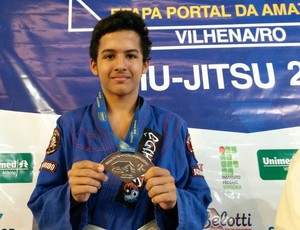 Geberson ficou em 2º lugar na Copa Portal da Amazônia de Jiu-Jítsu (Foto: Eliete Marques)